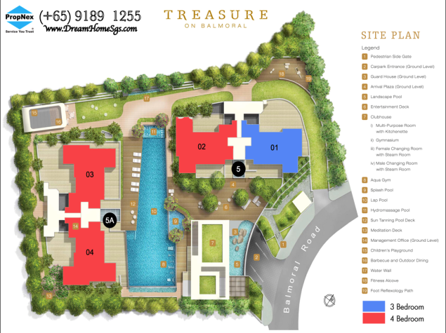 Treasure on Balmoral Site plan