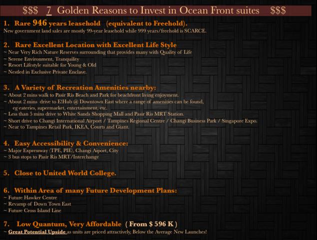 7  Golden Reasons to Invest in Ocean Front suites